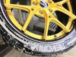 タイヤプリント 清掃 画像