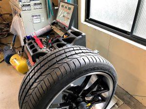 レクサスLC500タイヤホイールバランス調整